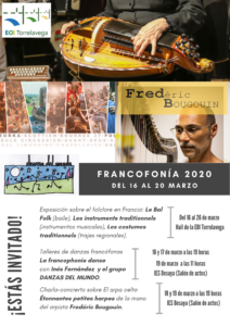 FRANCOFONÍA 2020 Del16 al 20 marzo